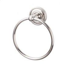 Edwardian Bath Ring Rope Backplate - Brushed Satin Nickel