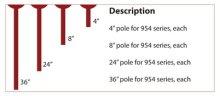 "4"" pole for serpentine light 954 series"