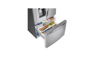 36 Inch, 24.6 cu.ft. Super-Capacity 3-door Counter Depth French Door Refrigerator with Smart Cooling plus technology