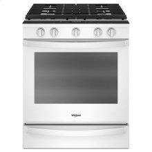 Whirlpool® 5.8 Cu. Ft. Smart Slide-in Gas Range with EZ-2-Lift™ Hinged Cast-iron Grates - White