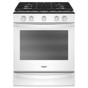 Whirlpool(R) 5.8 Cu. Ft. Smart Slide-in Gas Range with EZ-2-Lift(TM) Hinged Cast-iron Grates - White - WHITE
