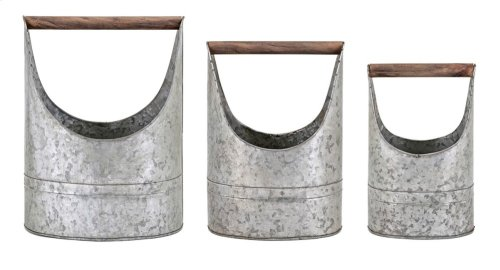 Metal Planters - Set of 3