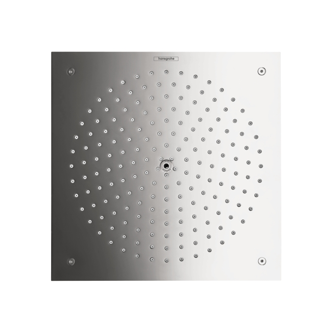 Chrome Showerhead 260 Square 1-Jet Trim, 2.5 GPM