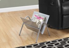 MAGAZINE RACK - SILVER METAL