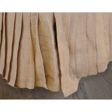 "Queen 15"" Jute Khaki Pleat Bedskirt - 100% Jute"