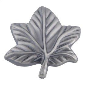 Vineyard Leaf Knob 2 Inch - Pewter