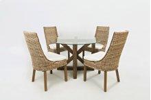 Hampton Road Transitional Style Kubu Dining Chair With Cushion