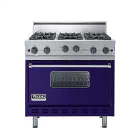 "Cobalt Blue 36"" Open Burner Range - VGIC (36"" wide, six burners)"