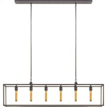 Visual Comfort S5015AI Ian K. Fowler Belden 6 Light 56 inch Aged Iron with Wax Linear Pendant Ceiling Light