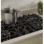 """Ge(r) 36"""" Built-In Gas On Glass Cooktop With 5 Burners And Dishwasher Safe Grates"""