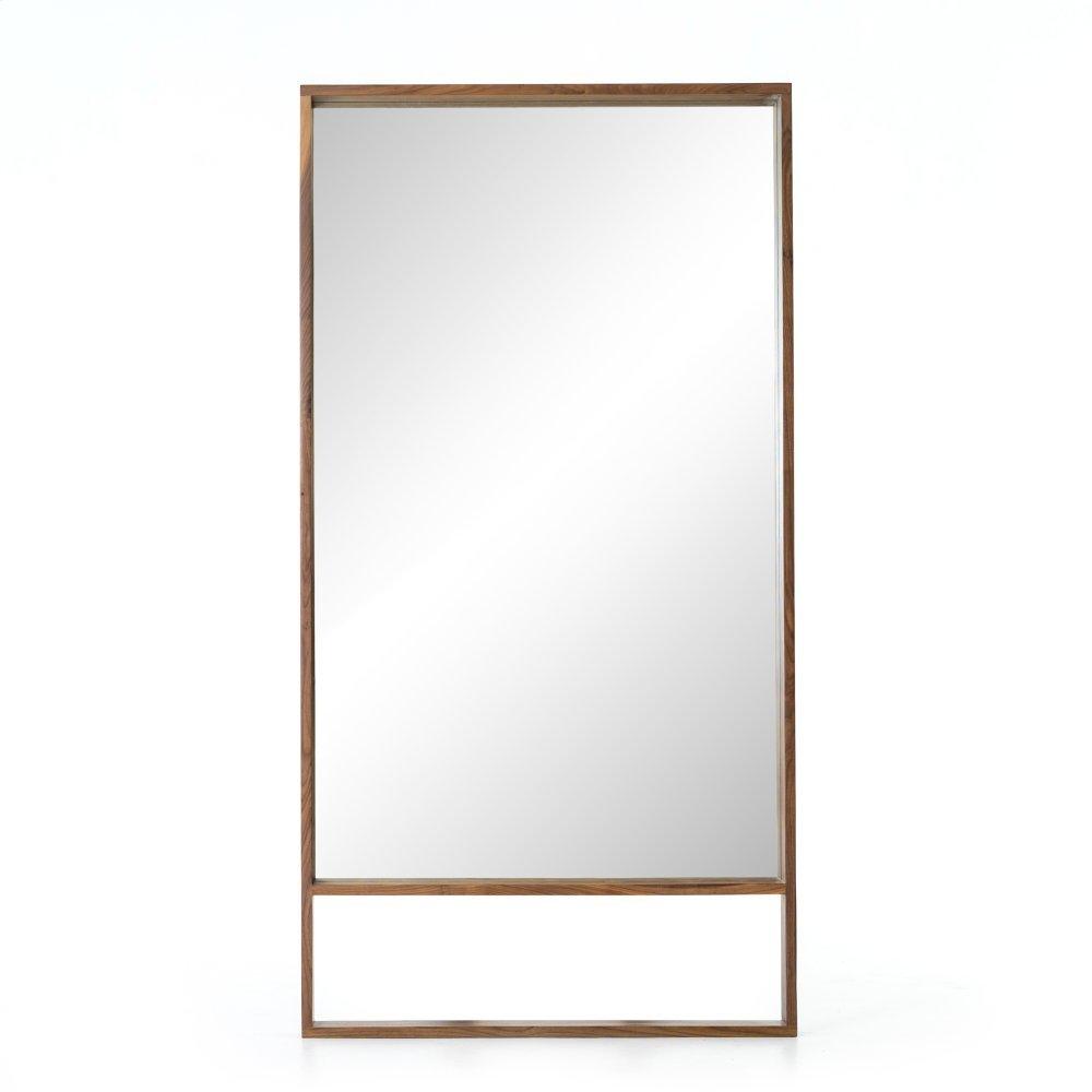 Natural Walnut Finish Luna Mirror