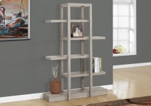 "BOOKCASE - 71""H / DARK TAUPE OPEN CONCEPT DISPLAY ETAGERE"