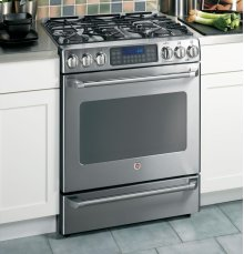 "GE Cafe™ 30"" Free-Standing Range with Baking Drawer"