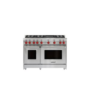 """Wolf48"""" Gas Range - 6 Burners and Infrared Charbroiler"""