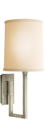 Visual Comfort BBL2027PWT-L Barbara Barry Aspect 1 Light 6 inch Pewter Finish Decorative Wall Light