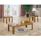 Three-piece Casual Occasional Oak Table Set Product Image