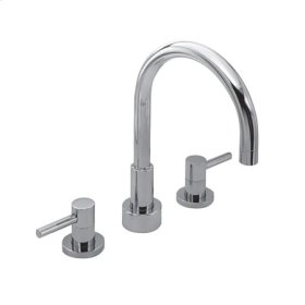 Gloss Black Roman Tub Faucet
