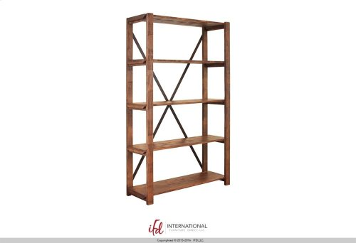 Bookcase w/5 fixed wood shelves