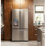 Ge Cafe(tm)  Energy Star(r) 22.2 Cu. Ft. Counter-Depth French-Door Refrigerator With Hot Water Dispenser
