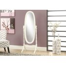"""MIRROR - 59""""H / ANTIQUE WHITE OVAL WOOD FRAME Product Image"""