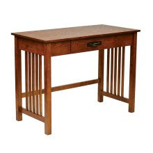 Sierra Writing Desk In Oak Finish With Pull Out Drawer and Solid Wood Legs