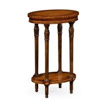 Napoleon III Style Oval Wine Table with Fine Inlay