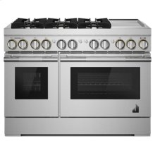 """RISE 48"""" Dual-Fuel Professional Range with Chrome-Infused Griddle"""
