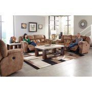 Lay Flat Reclining Console Loveseat w/Storage & Cupholders Product Image