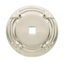 Satin Nickel Round Edinburgh Back Plate