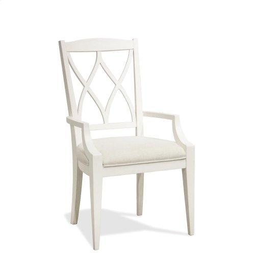 Myra - Xx-back Upholstered Arm Chair - Paperwhite Finish