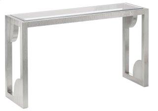 Morneau Silver Console Table - 30h x 52w x 16d