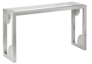 Morneau Silver Console Table - 30h x 52w x 16d