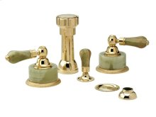 REGENT Four Hole Bidet Set K4270 - Polished Brass