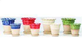Manchette Petits Pots with Attached Saucer - 8 Piece Assortment