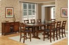 Double Trestle Pub Table w/ Leaves Product Image