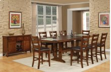 Double Trestle Pub Table w/ Leaves