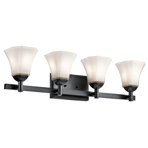 Serina Collection Serina 4 Light Bath Light in Black