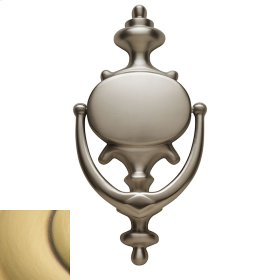 Satin Brass and Brown Imperial Knocker