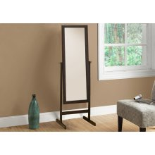"MIRROR - 60""H / CAPPUCCINO WOOD FRAME"