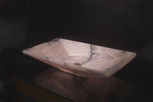 Verona Vessel Sink, 24 Pink Onyx