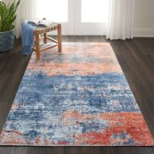 Safari Dreams Ki374 Blue/brick Runner 2'3'' X 8'