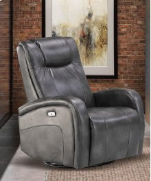 Easy Living Swiss Reclining Swivel Chair with USB