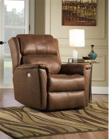 Shimmer Rocker Recliner with Power Headrest