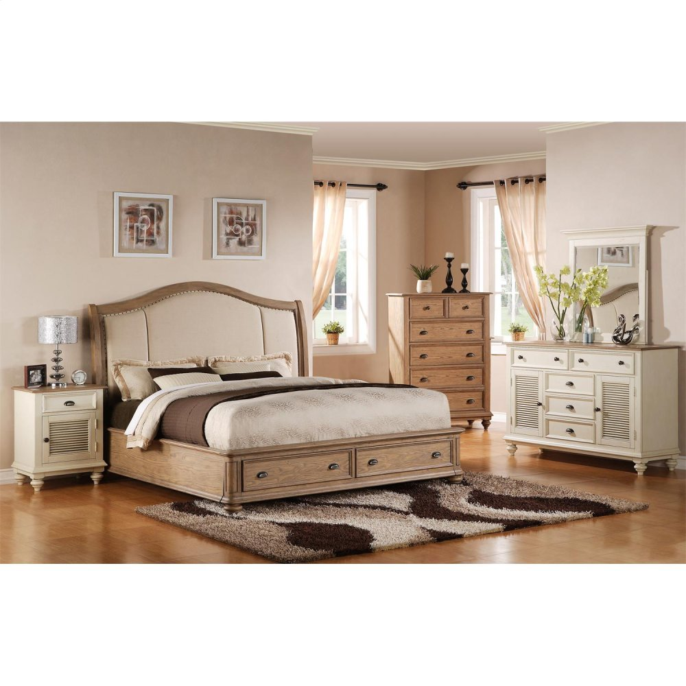 Coventry   King/cali King Storage Footboard With Platform   Weathered  Driftwood Finish