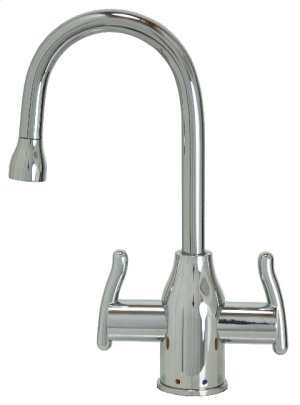 Francis Anthony Collection - Hot & Cold Water Faucet with Modern Curved Body & Handles - Polished Chrome Product Image