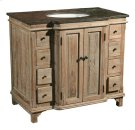 Blue Stone Top Bathroom Cabinet -- Two Cartons Product Image