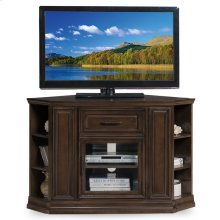 "Buffed Pecan 32"" High Corner TV Console w/Bookcase ends #84242"