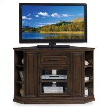 "Buffed Pecan 32"" High Corner TV Console w/Bookcase ends #84242"