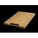 "MCB-501 High Quality Bamboo Cutting Board with Steel Handle - (LxWxD) 15"" Cutting Board: 19"" x 13-1/8"" x 1-1/2"" Product Image"