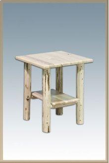 Montana Log Nightstand with Shelf